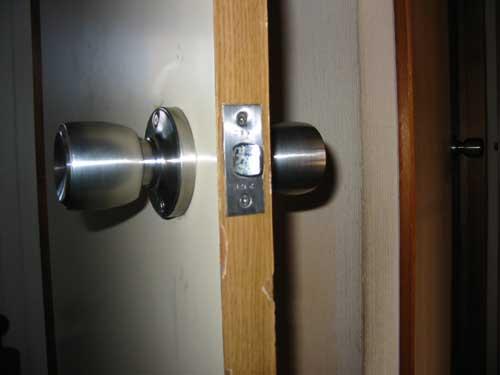 開いたドア