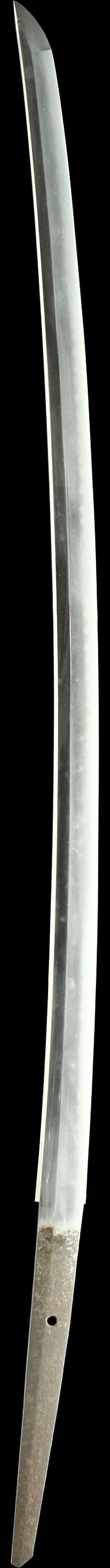 日本刀・河内守行広の刀身縦裏全景