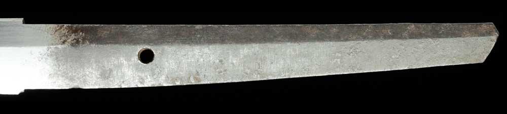 無銘寿命の刀身表拡大5