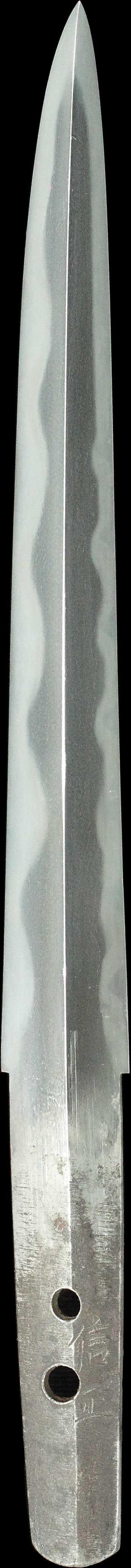 信正の刀身縦表全景