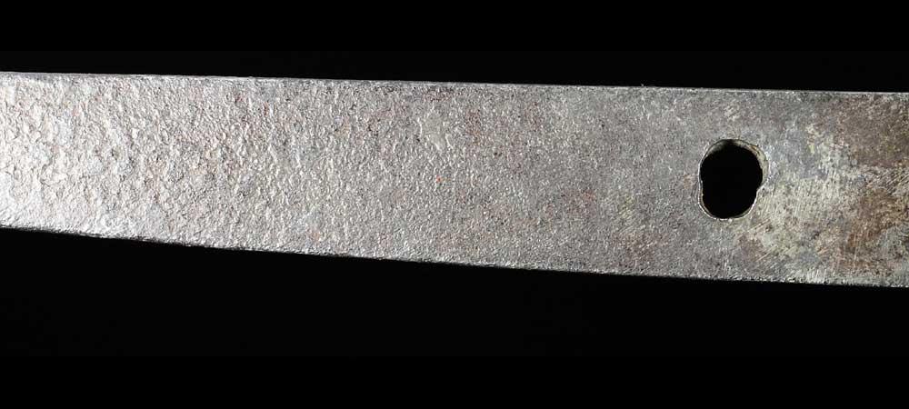 日本刀・上野守寿命の刀身裏拡大8
