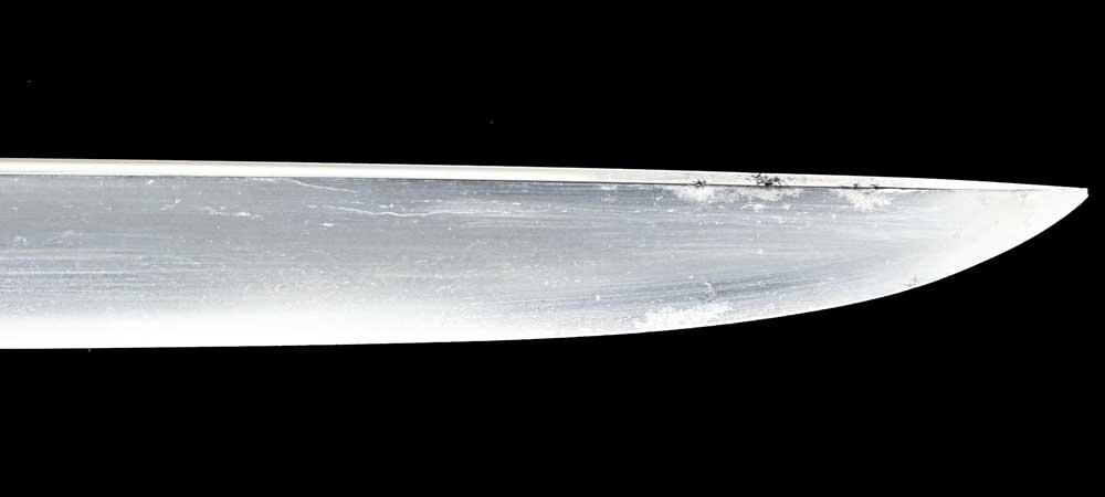 日本刀・吉光の刀身裏拡大1