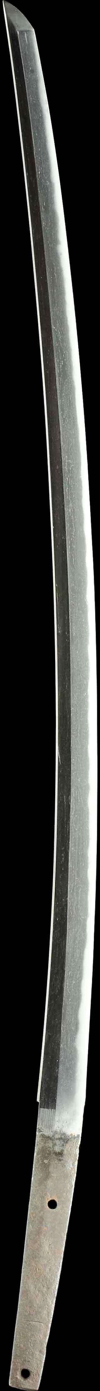 日本刀・一文字の刀身縦表全景