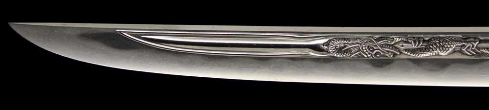 日本刀・平安城吉房の刀身表拡大1